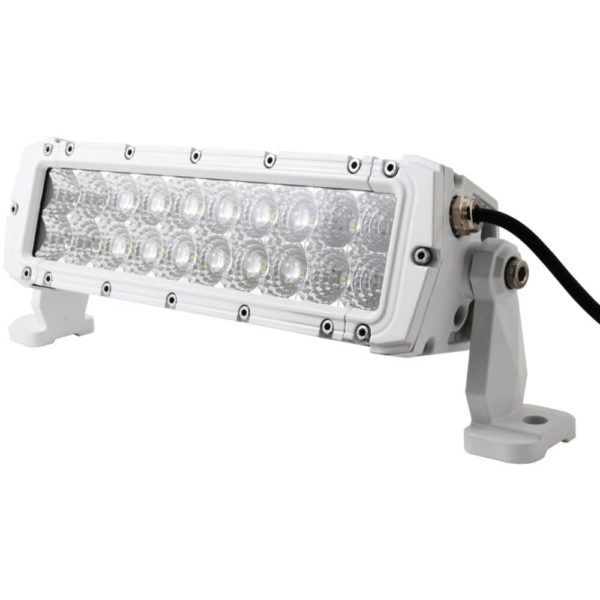 "MARINE SPORT MS-MRDR10 HD LED White Marine Light Bar (10″"", 60 Watts, 4,200 Lumens) 1"