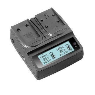 Brilite Dual LCD Charger for Canon LP-E12 Batteries, car charger included