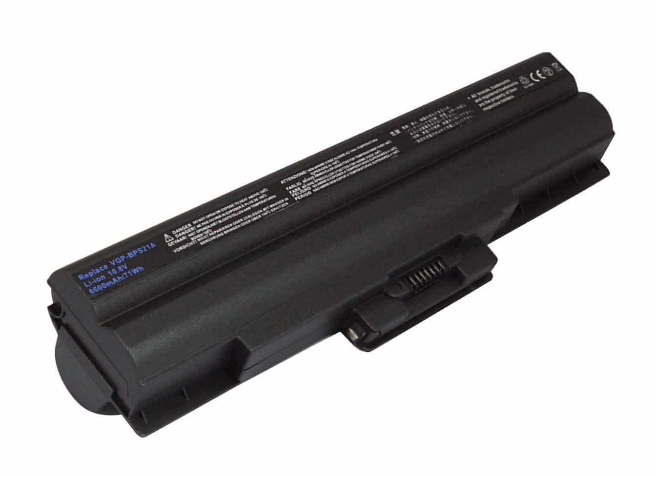 Replacement laptop battery 6-Cell 11.1V 5200mAh for SONY:VGP-BPS13