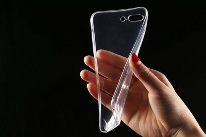BRILITE iPhone 7 Case, Crystal Clear Drop Protection Transparent Hard PC Back Plate and Flexible TPU Gel Protective Case Cover