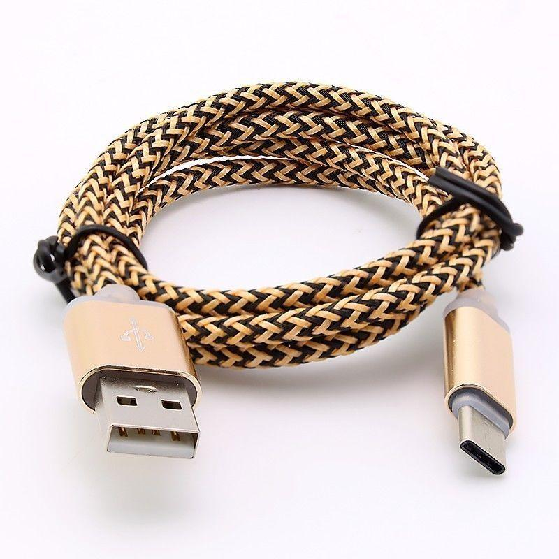 1M Gold USB-C USB 3.1 Type C Male to USB 3.1 Type C Male Extension Data Cable