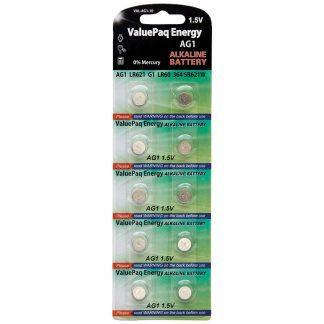 10 PACK ALKALINE REPLACEMENT FOR AG1, 364, SR621W, SR621SW,
