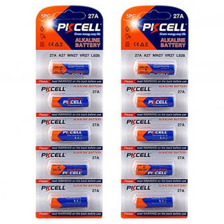 10 Pack 27A A27 MN27 12V Alkaline Battery