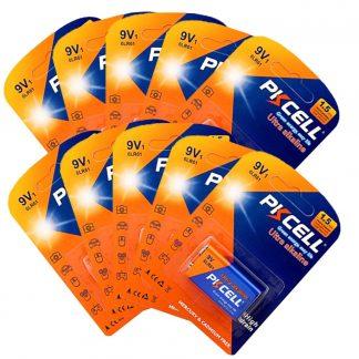 10 Pack 9V 6LR61 MN1640 E22 522 Alkaline Battery