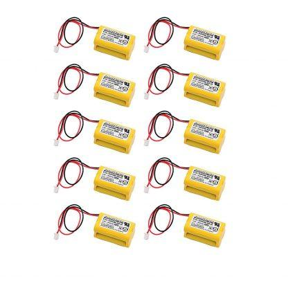 10 pc Dantona Replacement 4.8 Volt 800 mAh Nickel Cadmium battery for All Fit - E1021R, Exell EBE-145-10 and more