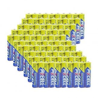 100 Pcs AAA R03P 1.5V Carbon Zinc Batteries