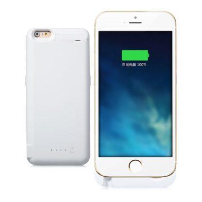 Brilite 10000mah Battery External Case Charger Portable Battery Backup Rechargeble Power Case for Iphone 6 Plus Color White