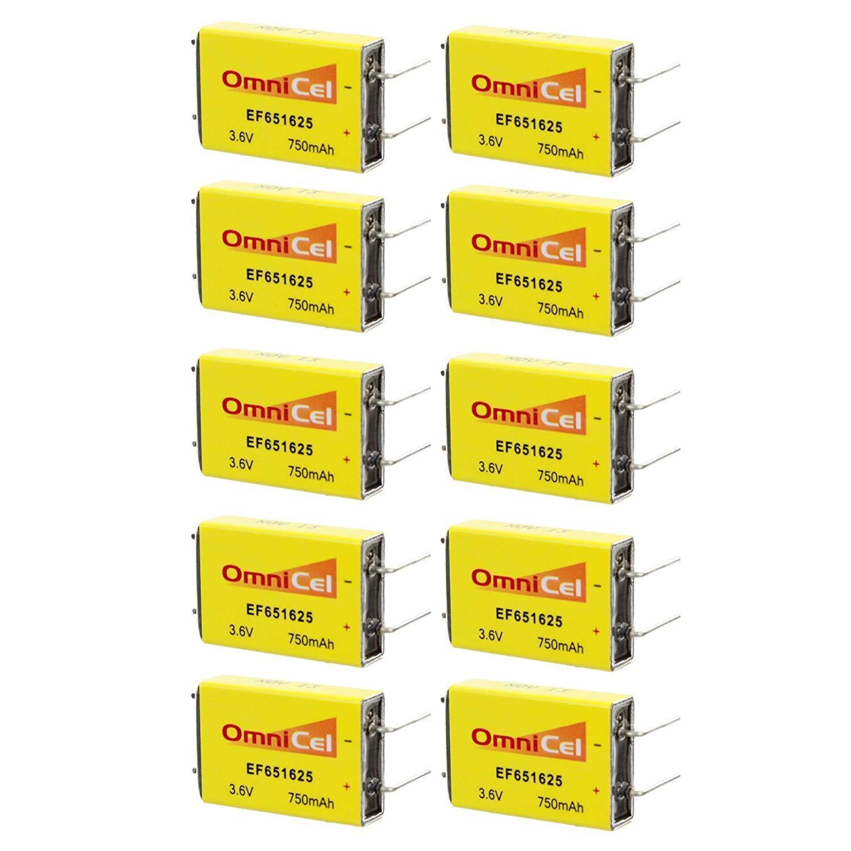 10pc OmniCel ER651625 3.6V 750mAh Prismatic Lithium Battery BL-7PN