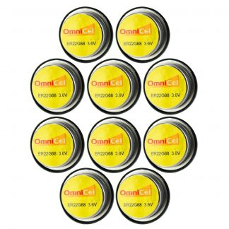 10x OmniCel ER22G68 3.6V 0.4Ah Bel Cell Waffer Lithium Battery Sensors Detectors