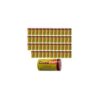 10x OmniCel ER26500 3.6V 8.5Ah Sz C Lithium Button Top Battery Telematics