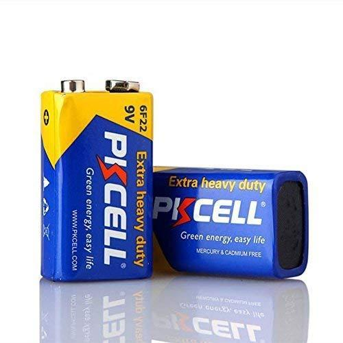 2 Pack 9v 6f22 Super Heavy Duty Zinc Carbon Batteries For Smoke