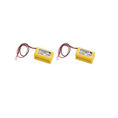 2 pc Dantona Replacement 4.8 Volt 800 mAh Nickel Cadmium battery for All Fit - E1021R, Exell EBE-145-10 and more