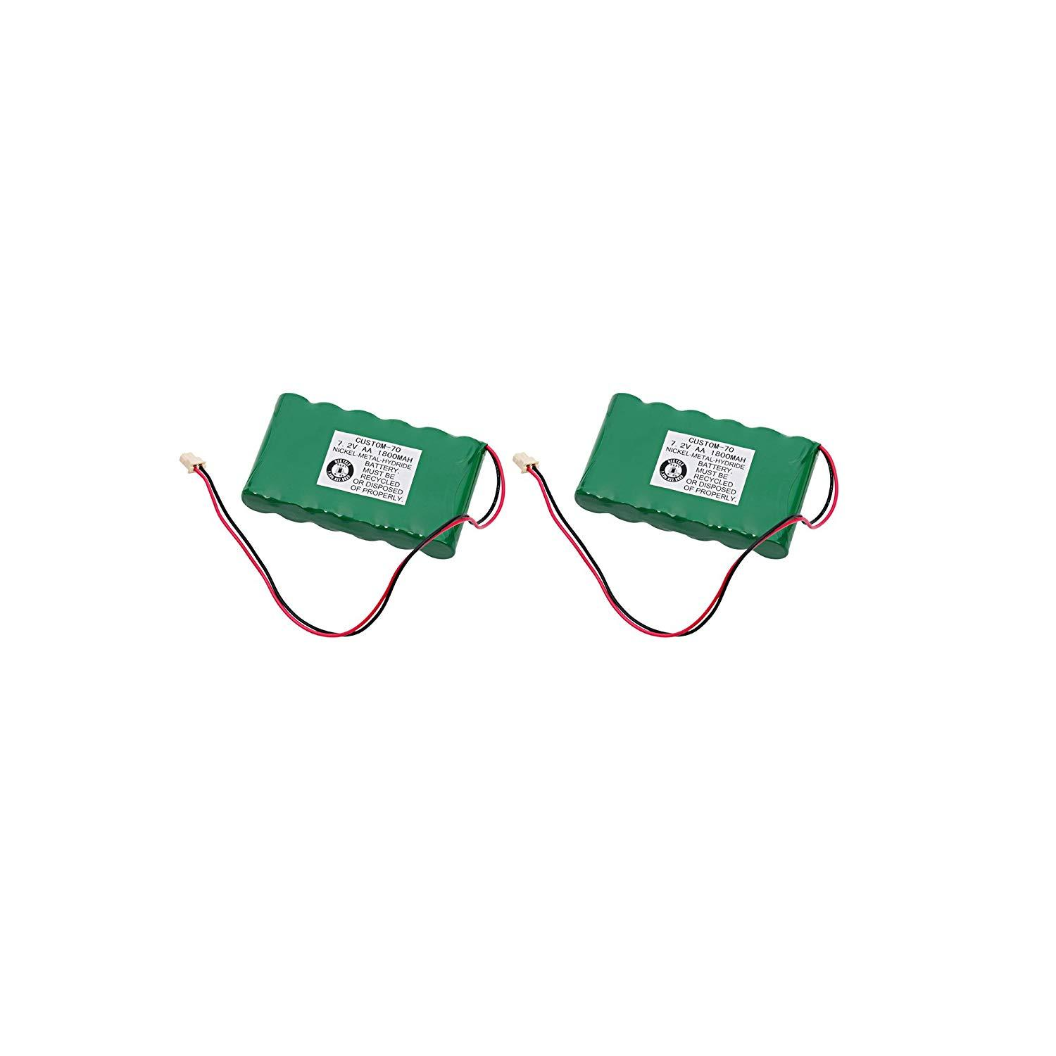2pc Dantona Replacement Alarm Panel Battery For Honeywell 300-03864-1 and more