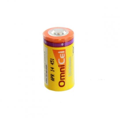 2x OmniCel ER17335 3.6V 2.1Ah 2/3A Lithium Button Top Battery Sensors Detectors