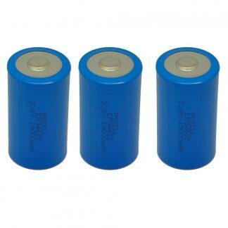 3 Pack D Cell 3.6V 19000mAh Lithium Battery ER34615 D Battery