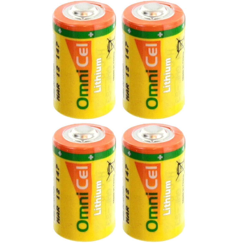 4X OmniCel ER14250HD/S 3.6V 1/2AA Lithium Standard Terminal Battery AMR Backup
