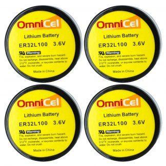 4X OmniCel ER32L100 3.6V 1.7Ah Sz 1/6D Lithium Battery Nickel Pin Telematics