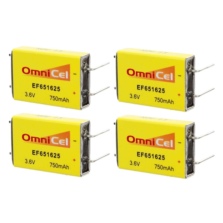 4X OmniCel ER651625 3.6V 750mAh Prismatic Lithium Battery BL-7PN RFID AMR Backup