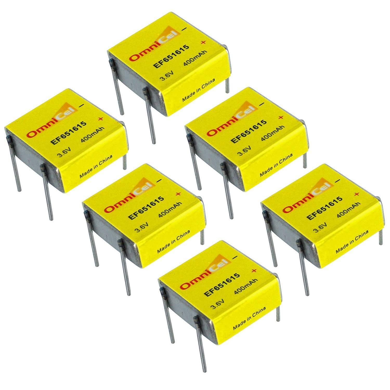 6X OmniCel ER651615 3.6V 400mAh Prismatic Lithium Battery BL-4PN Sensor Detector