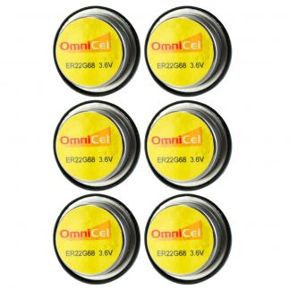 6x OmniCel ER22G68 3.6V 0.4Ah Bel Cell Waffer Lithium Battery Tracking Backup