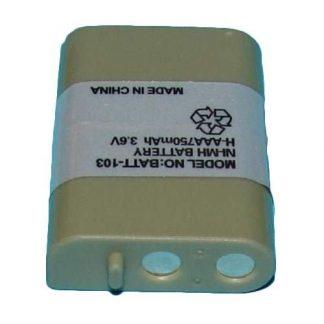 BATT-103 - Ni-MH, 3.6 Volt, 750 mAh, Ultra Hi-Capacity Battery - Replacement Battery for PANASONIC HHR-P103, Cordless Phone Battery