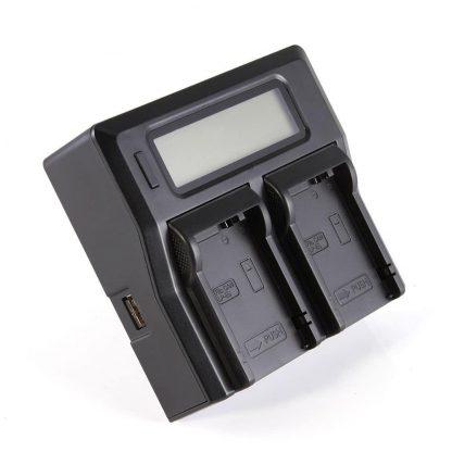 Brilite Lcd Dual Channel Charger For Canon LC-E8C LP-E8 EOS 550D 600D 650D 700D AC/DC
