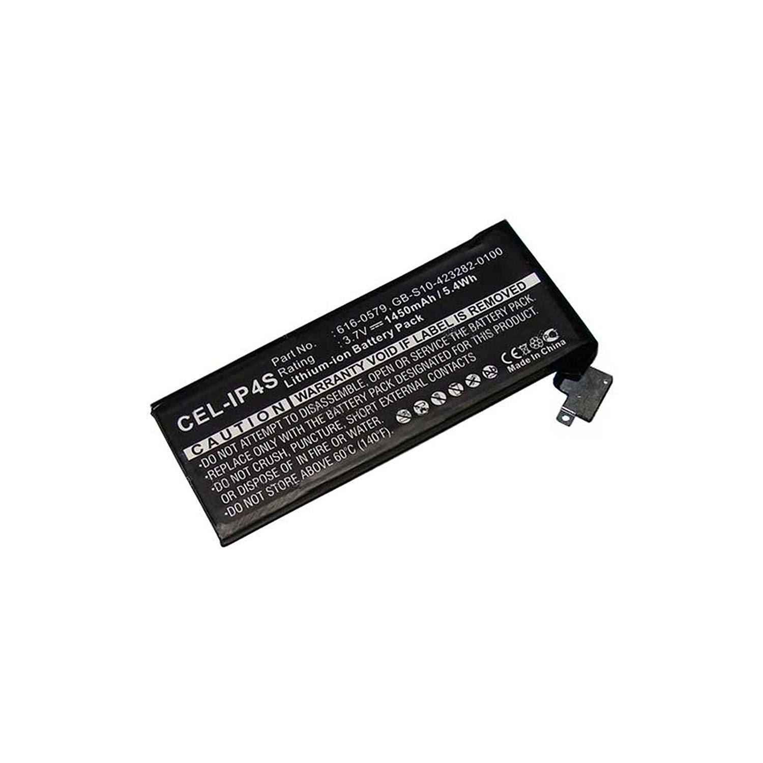 Cell Phone Battery for Apple iPhone 4S Replaces 616-0579 Li-Ion