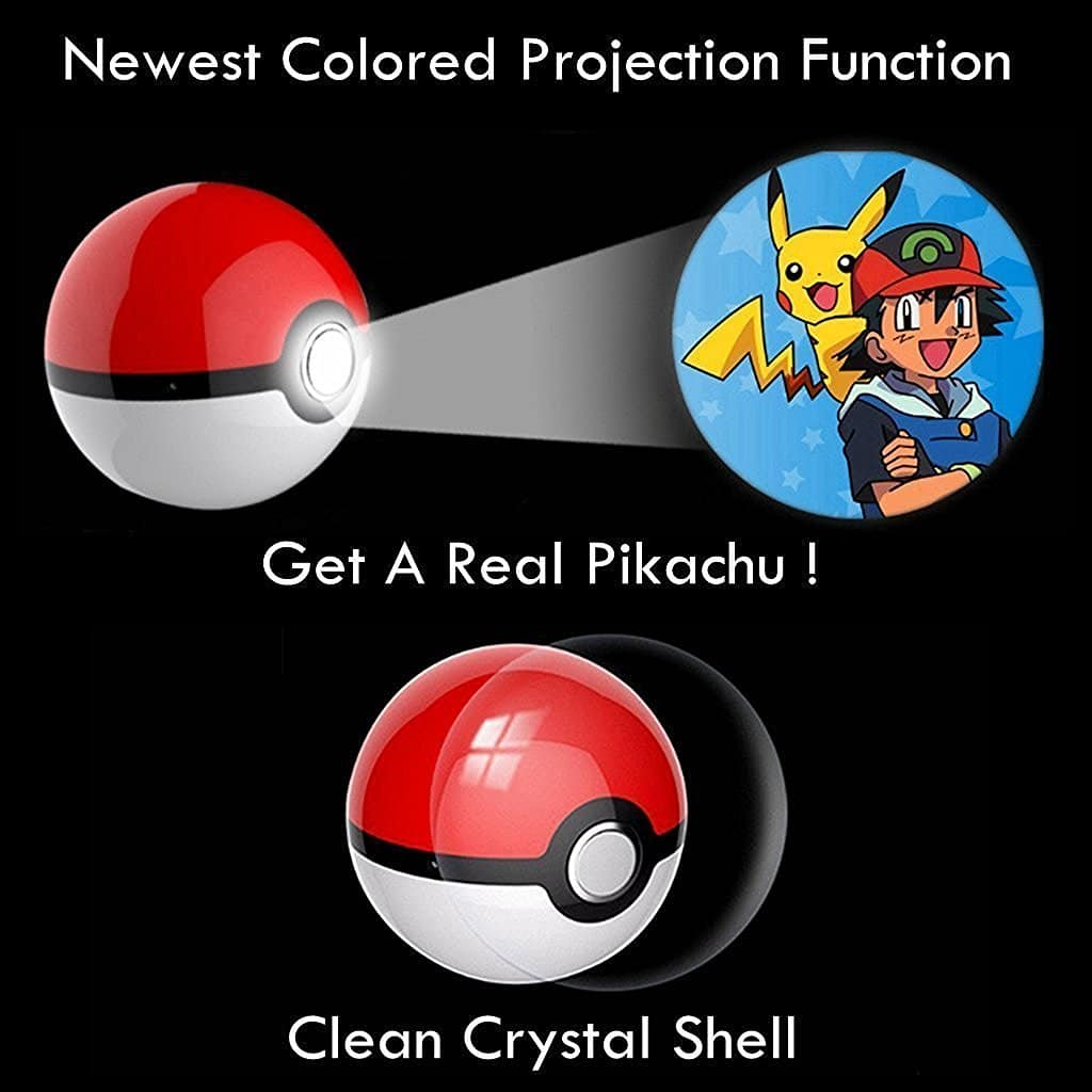 Dazzle Art World Pikachu Magic Ball Generation 3 Pokeball Shape 12000mAh Power Bank Pokemon Go Portable Power Bank USB LED External Battery Charger