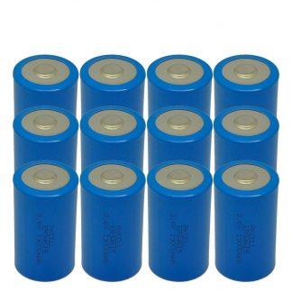 ER34615 3.6v D Cell Lithium Battery 19000mAh,12 Counts