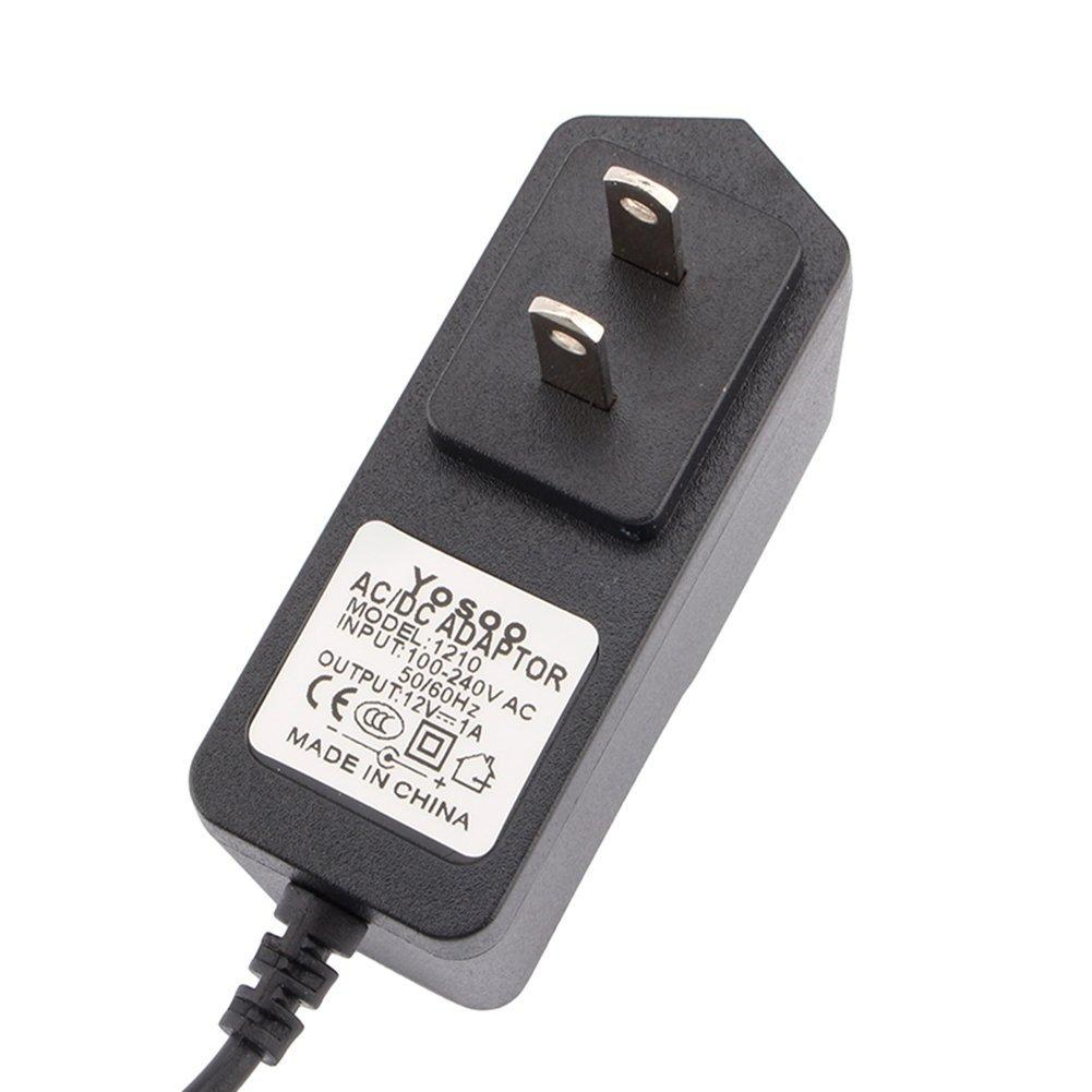 Brilite 12V Power Adapter 1.2M 1A for CCTV, Security Cameras, Routers