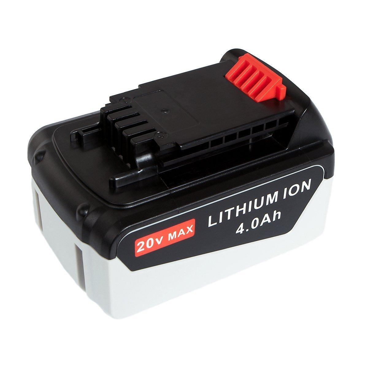 4.0Ah High Capacity 20V MAX Battery for Black & Decker LBXR20 LBXR20-OPE LB20 LBX20 LB2X4020 LB2X4020-OPE