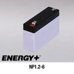 FedCo Batteries Compatible with EnerSys NP1.2-6 1200mAh Sealed Lead Acid Battery For Standby And Main Power Applications