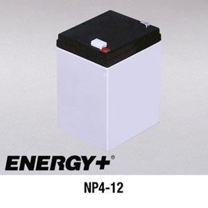 FedCo Batteries Compatible with EnerSys NP4-12 4000mAh Sealed Lead Acid Battery For Standby And Main Power Applications
