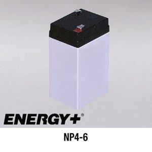 FedCo Batteries Compatible with EnerSys NP4-6 4000mAh Sealed Lead Acid Battery For Standby And Main Power Applications