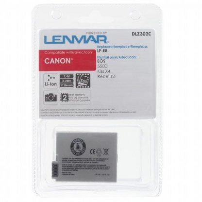 Battery for Canon EOS 550D Kiss X4 Rebel T2i T3i  LP-E8 DLZ302C