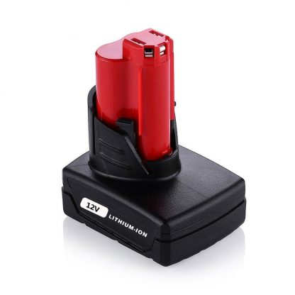 M12 12v 4.0Ah Replacement Battery for Milwaukee Cordless Tools 48-11-2440 48-11-2402 48-11-2411 M12 Xc