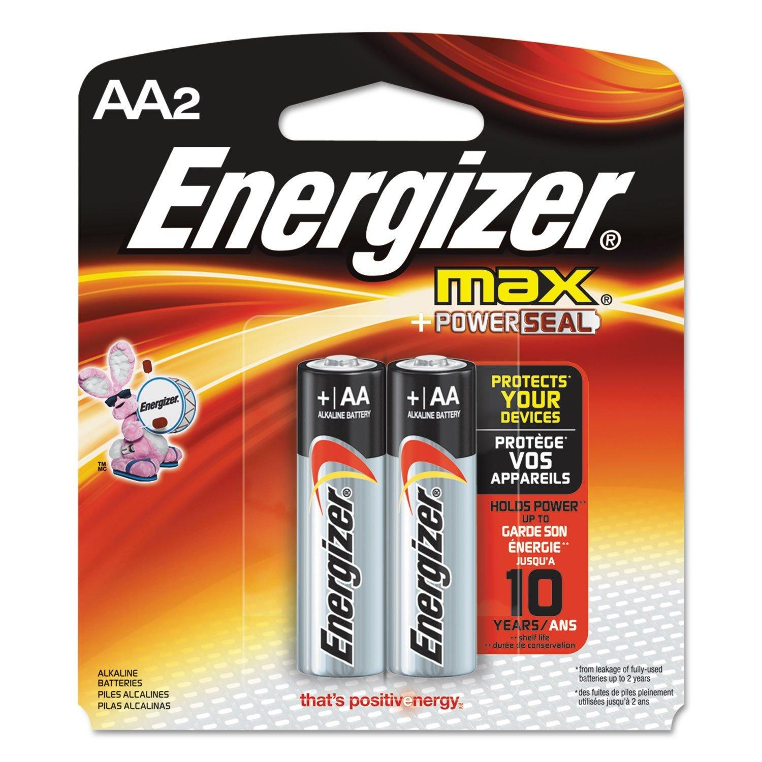 Energizer MAX AA 2 Batteries/Pack Alkaline Batteries