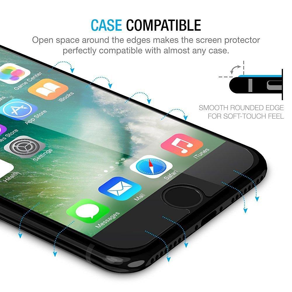 Brilite Tempered Glass Screen Protector for iPhone 7 0.2mm Screen Protection Case Fit 99% Touch Accurate