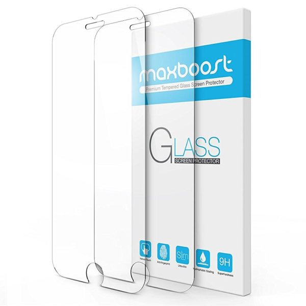 Maxboost-Tempered-Glass-Screen-Protector-for-iPhone-7-6-6s-02mm-Screen-Protection-Case-Fit-99-Touch-Accurate-B01JQR4UBW