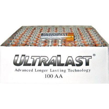 NABC UltraLast ULA100AAB AA Size General Purpose Battery - Alkaline - 1.5V DC General Purpose Battery-100 count by Ultralast