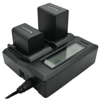 Dual Channel LCD Display Charger For Sony  NP-F550 NP-F570 NP-F750  Camcorder Batteries