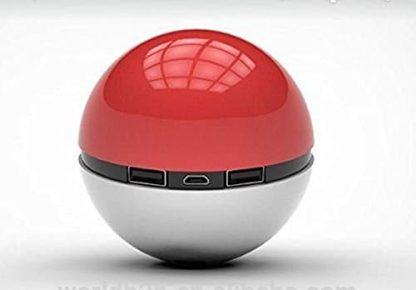 New Pokeball Pokemon Phone Charger Battery Power Bank USB 12000mAh LED Iphone Samsung Android