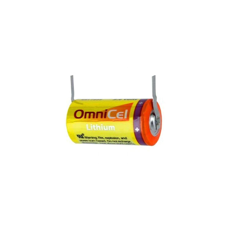 "OmniCel 3.6 Volt / 19 Ah ""D"" High Energy Lithium Battery w/ Tabs"