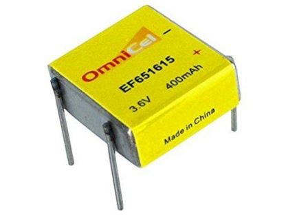 OmniCel 3.6V 400 mAh (EF651615 / LTC-3PN) Prismatic High Energy Lithium Battery