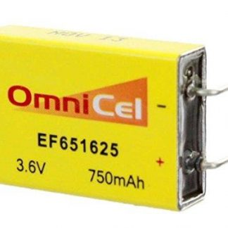 OmniCel 3.6V 750 mAh (EF651625 / LTC-7PN) Prismatic High Energy Lithium Battery