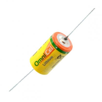 OmniCel ER14250HD/P 3.6V 1/2AA Lithium Battery with Axial Pins Replaces Maxell ER3 ER3S ER3S-TC, Minamoto ER14250, Saft LS-14250 LS-14250C, Sonnenschein SL-150/S SL-350/S SL-750/S