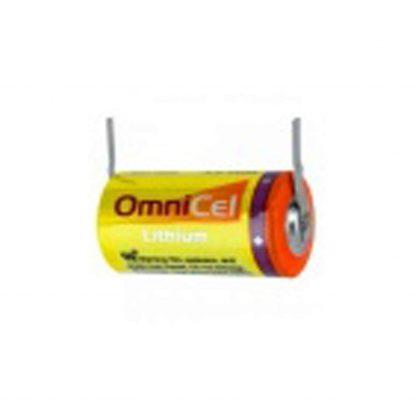 OmniCel ER14335 3.6V 1.65Ah 2/3AA Lithium HighEnergy Battery with Tabs Replaces Tadiran TL-2155 TL-4955 TL-5155 TL-5955, Xeno XL-055F for use with Medical Equipment, Radiocommunication