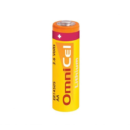 OmniCel ER14505 3.6V 2400mAh AA Lithium Button Top Battery