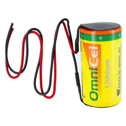 OmniCel ER26500HD 3.6V Size C Lithium Battery with Wire Leads Replaces Eagle Pitcher PT-2200, Saft LSH14, Tadiran TL-2200 TL-4920 TL-5920, Tekcell SB-C01 SB-C02