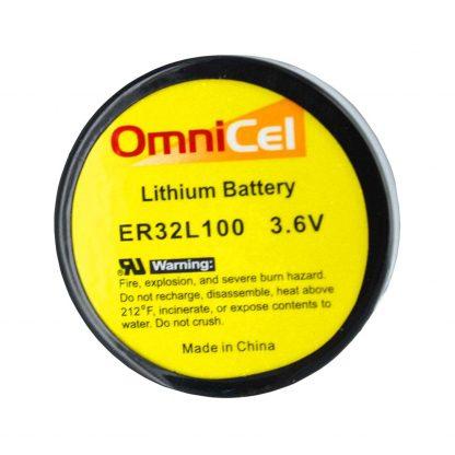 OmniCel ER32L100 3.6V 1.7Ah Size 1/6D Lithium Battery Nickel Pin